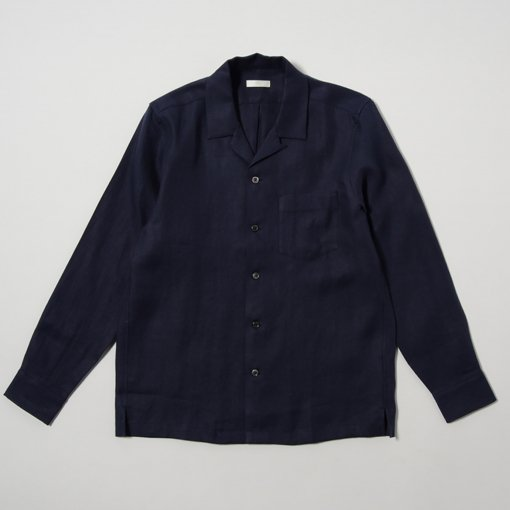 French Linen Open Collar L/S Shirt