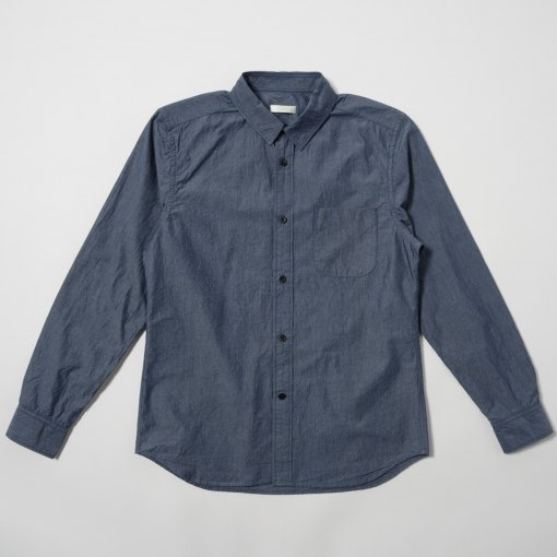 Indigo Typewriter Cotton L/S Shirt