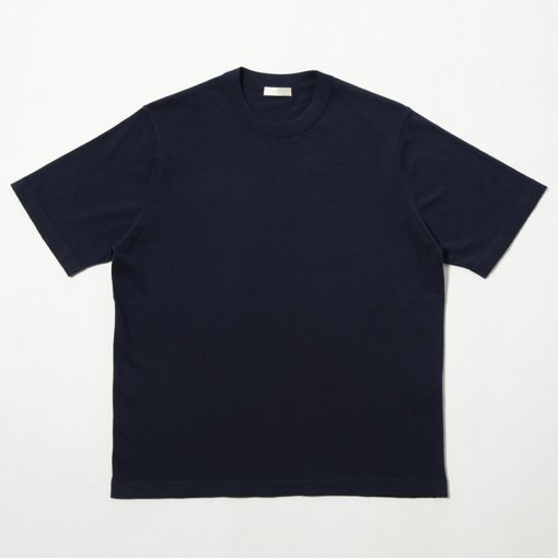 Fine Gauge Cotton Crewneck S/S Sweater