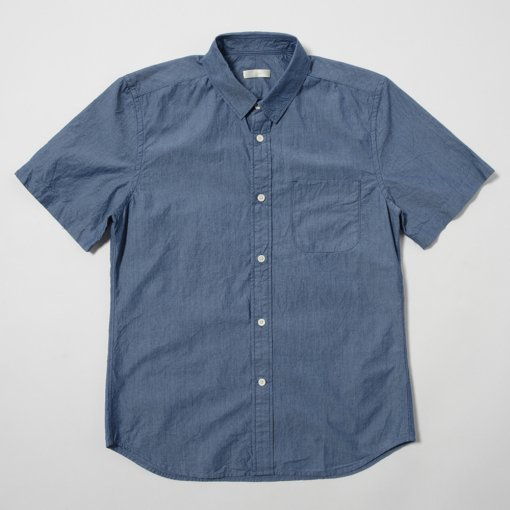 Indigo Typewriter Cotton S/S Shirt