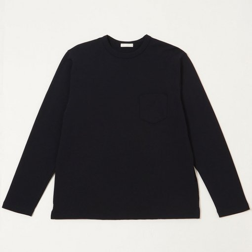 Smooth Cotton L/S Pocket Tee
