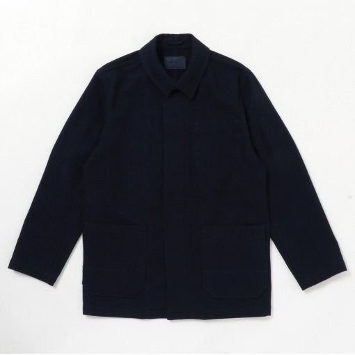 Indigo Dye Cotton Wool Work Jacket