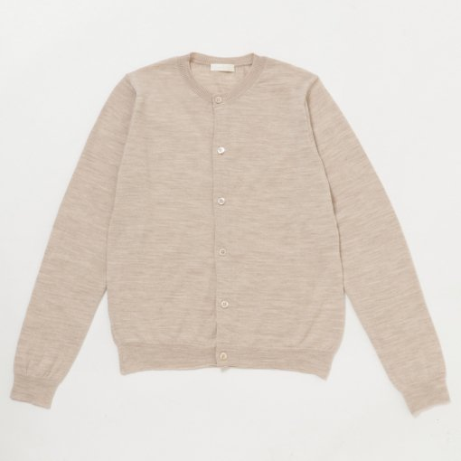 Ex. Fine Wool Crew Neck Cardigan