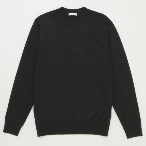 Fine Gauge Wool Elbow Patch Sweater