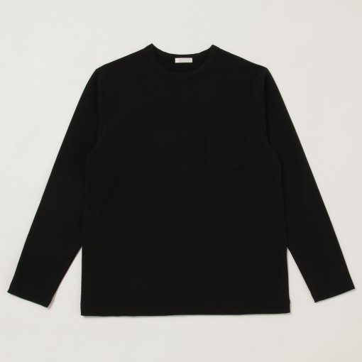 Dry Touched Cotton Inlay L/S Pocket Tee