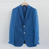 Indigo Dye Cotton Linen 2 Button Jacket (Sample)