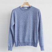 Cotton Cashmere Crew Neck Sweater (Sample)