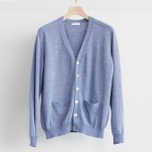 Cotton Cashmere V-neck Cardigan (Sample)