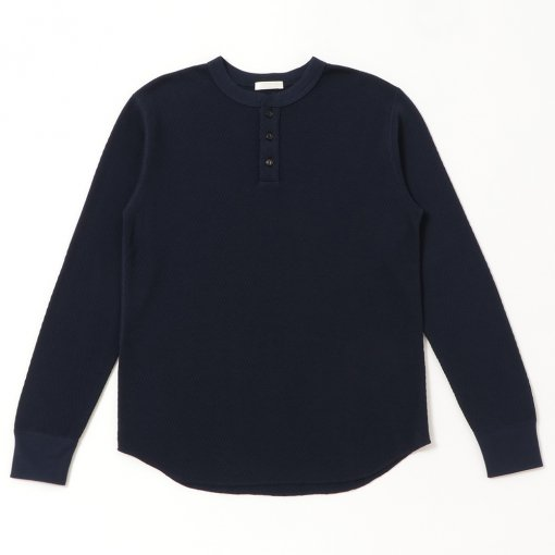 Pima Cotton Thermal Henry Neck L/S Tee
