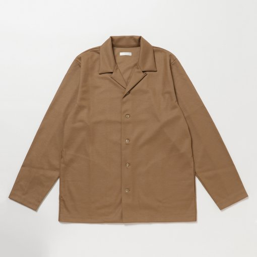 Smooth Wool Jersey Comfort Shirt Jacket