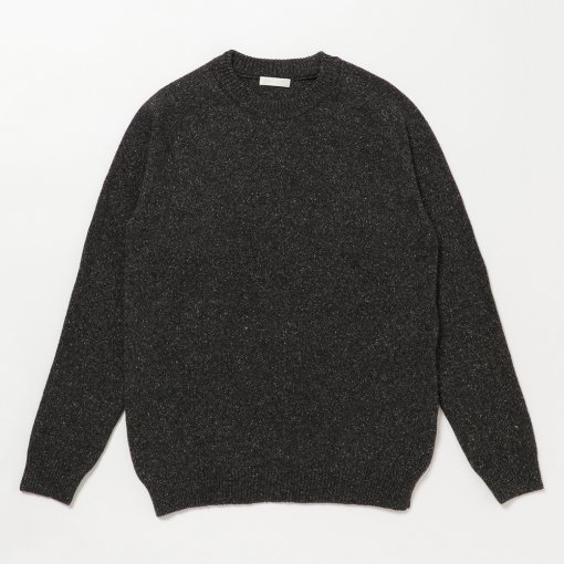 Lamb Wool Silk Nep Crew Neck Sweater