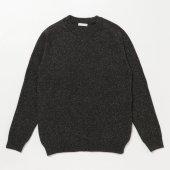 Lamb Wool Silk Nep Crew Neck Sweater