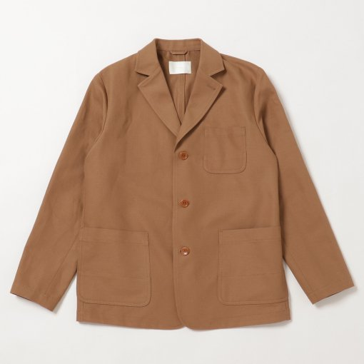 Compact High Twisted Cotton Linen 3B Jacket