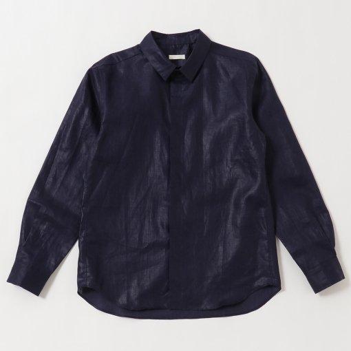 Lightweight Linen Fly-front Regular Collar L/S Shirt