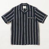 Striped Linen Comfort Pyjama S/S Shirt