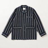 Striped Linen Comfort Pyjama L/S Shirt