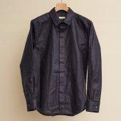 Lightweight Linen Fly-front Regular Collar L/S Shirt (Sample)