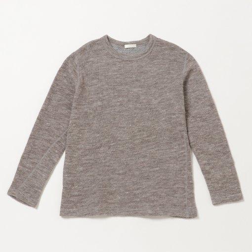 Shetland Wool Linen Cotton Double-cloth Crew Neck Tee