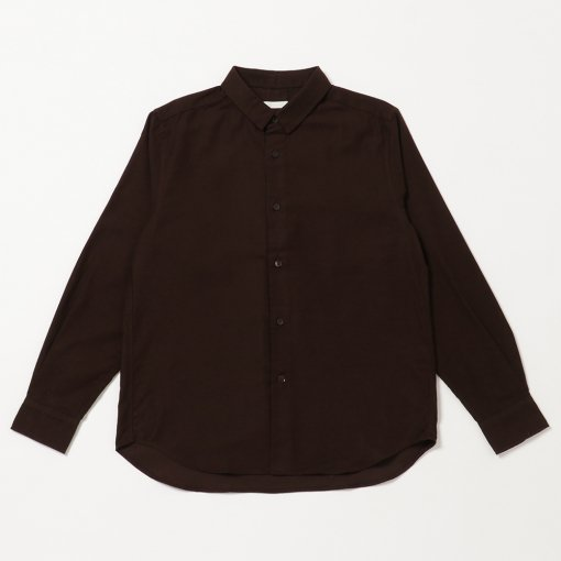 Military Moleskin Suede Regular Collar Shirt
