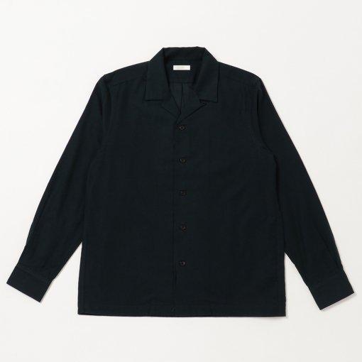 Military Moleskin Suede Open Collar Shirt