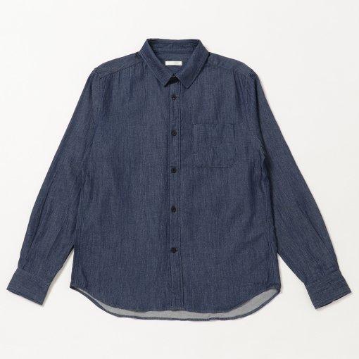 Lightweight Cotton Wool Denim Regular Collar Shirt