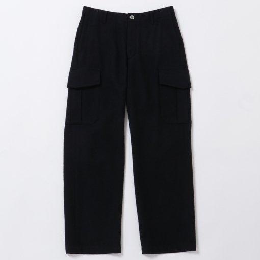 Brushed British Wool Cotton Twill Cargo Pants