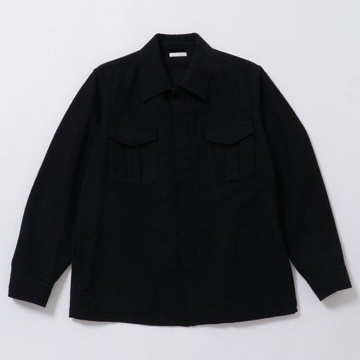 Brushed British Wool Cotton Twill Utility Army Jacket
