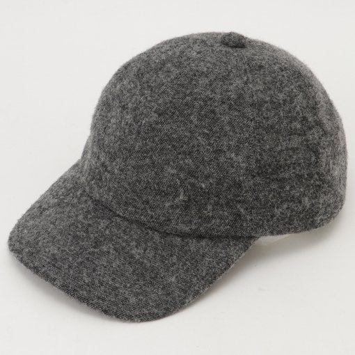 Brushed Cotton British Wool Twill Baseball Cap