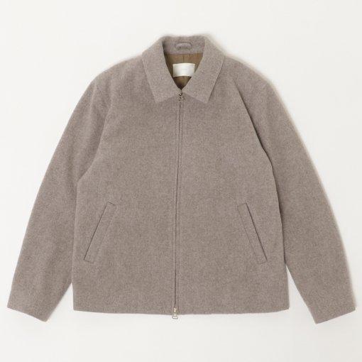 Lamb's Wool Melton Zip-up Jacket
