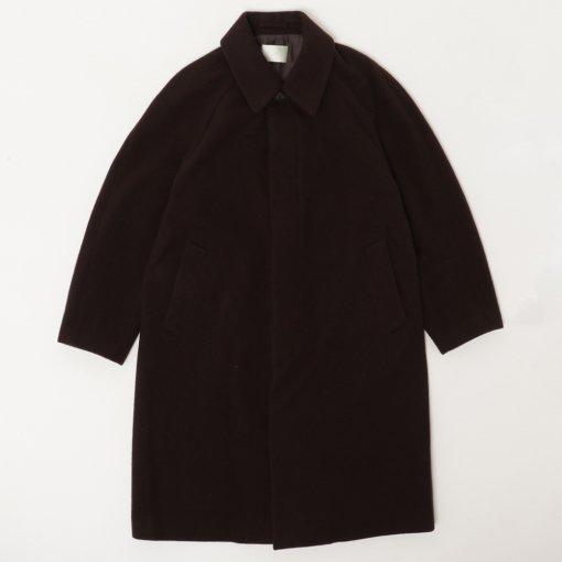 Lamb's Wool Melton Bal Collar Coat