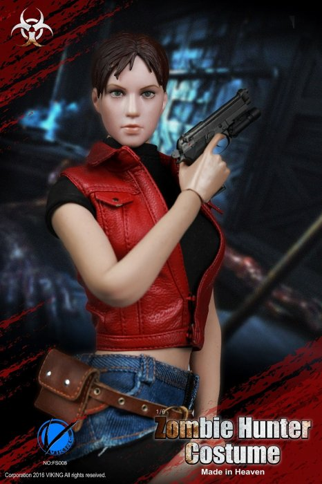 1/6 VIKING FS008 Zombie Hunter Claire Redfield  Made in Heaven ゾンビ ハンター  服セット