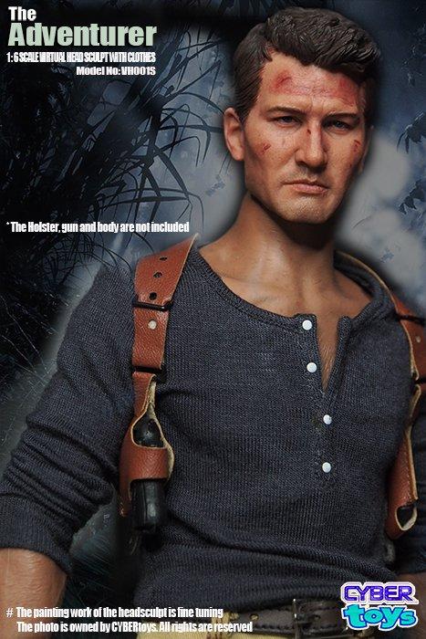1/6 CYBER toys WH001S The Adventurer 大冒険家 アンチャーテッド 海賊王と最後の秘宝  Uncharted 4 Drake  ヘッドと服セ…
