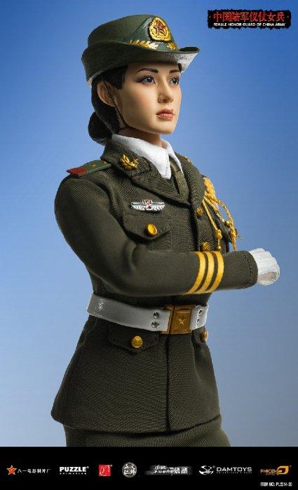 1/6 PHICEN PL2014-30 超柔軟性シームレスフィギュア 中国人民解放軍陸軍 儀仗隊 美人女性兵士