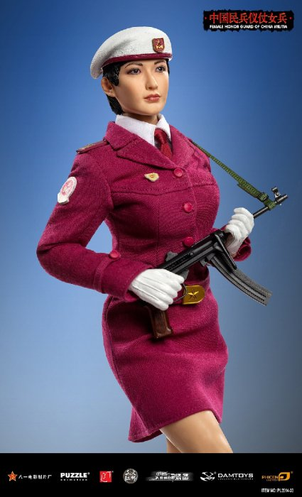 1/6 PHICEN PL2014-33 超柔軟性シームレスフィギュア 中国人民解放軍民兵 儀仗隊 美人女性兵士