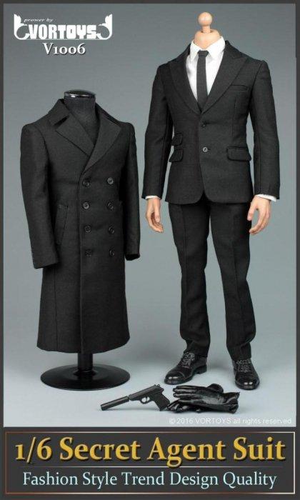 二次予約 1/6 VORTOYS V1006  007スパイ風 男性メンズ紳士スーツ アウトフィットセット