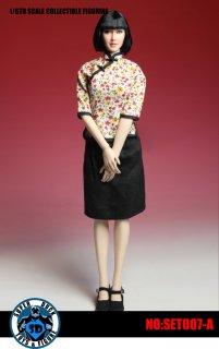送料無料 1/6 SUPER DUCK SET007-A  中華民国時代女子学生風 美人ヘッドと服セット