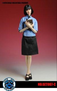 送料無料 1/6 SUPER DUCK SET007-C  中華民国時代女子学生風 美人ヘッドと服セット