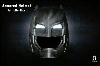 1/1 BRE TOYS 002 Armored Helmet バットマン vs スーパーマン ジャスティスの誕生 バットマン 高級LEDアイ ヘルメット