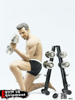 1/6 POPTOYS EY02 フィットネス ダンベル Gym Equipment dumbbell + dumbbell rack combination set