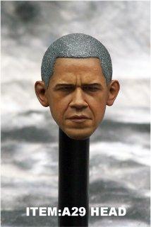 1/6 DIY A29 元アメリカ合衆国大統領 バラク・オバマ  ヘッド