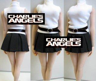 1/6 Charlie's Angels 2017ガールズ  セクシーOL  タートルネックシャツとショットスカート服セット