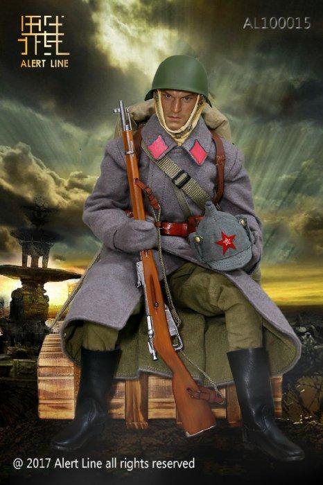 "Alert Line 1//6 WWII Soviet Red Army Infantry Equipment AL100015 Coat 12/"" Figure"