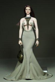 カスタム制作 1/6 GamerBeauty 2017最新版 美人女性  PHICEN素体用 アスラ イブニングドレスアクセサリーセット