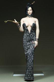 カスタム制作 1/6 GamerBeauty 2017最新版 美人女性  PHICEN素体用 イブニングドレスアクセサリーセット
