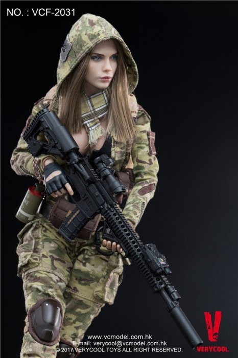 1/6 VERYCOOL VCF-2031 MC Camouflage Women Soldier Villa 迷彩美人
