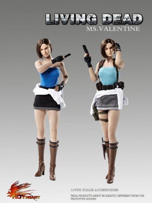 予約1/6 Hot Heart FD005-A/B バイオハザード ジル・バレンタイン LIVING DEAD Valentine ヘッドと服と武器セット