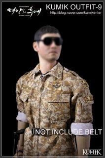 予約 1/6 KUMIK Outfit-9 太陽の後裔 Seo Dae Young 軍服と素体と武器セット