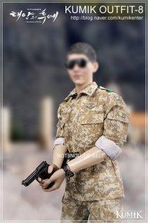 予約 1/6 KUMIK Outfit-8 太陽の後裔 Yoo Si Jin  軍服と素体と武器セット