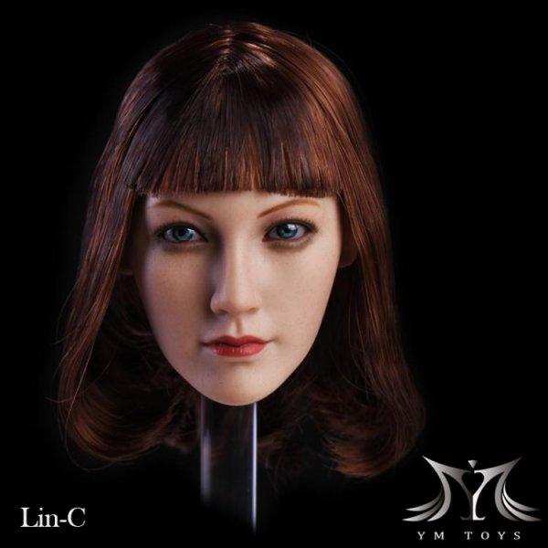 予約 1/6 YMtoys Lin-C アジアン美人女性 ヘッド