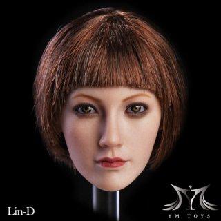 送料無料  1/6 YMtoys Lin-D アジアン美人女性 ヘッド